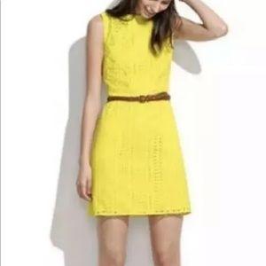 Madewell Yellow Eyelet Cotton Dress Size 0